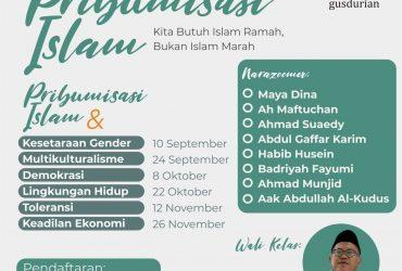 Seri Kelas Webinars: Pribumisasi Islam dan Demokrasi
